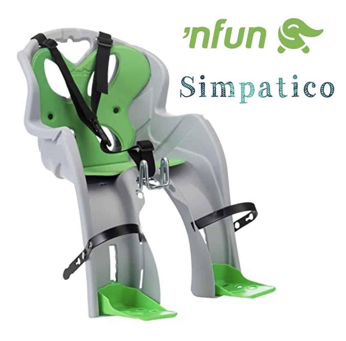 'Nfun Simpatico verde/Grigio – Seggiolino Anteriore